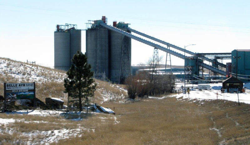 FILE - In a Jan. 21, 2016, file photo, the Belle Ayr Mine stands near Gillette, Wyo. Contura Energy has made a successful bid at auction of $33.75 million for the assets of the Eagle Butte and Belle Ayr mines in Wyoming and Pax Surface Mine in Scarbro, West Virginia. They've been closed since Milton, West Virginia-based Blackjewel LLC filed for Chapter 11 bankruptcy protection July 1.  (AP Photo/Mead Gruver, File)