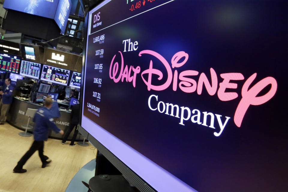 The potential for another media megadeal are sending shares of Comcast, Twenty-First Century Fox and Disney into motion before the opening bell. (AP Photo/Richard Drew)
