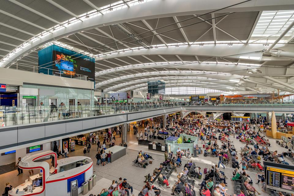 Passengers have described crowds of people at Heathrow Airport as people arrive up to eight hours early for flights. (Getty)