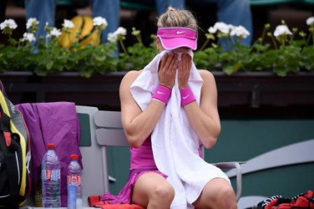 A shocking first-round loss at the French Open likely drops Eugenie Bouchard out of the top 10