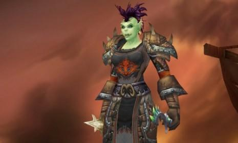 Maine state Senate candidate Colleen Lachowicz participates in World of Warcraft as her avatar, Santiaga, a green-skinned, mohawked, trash-talker.