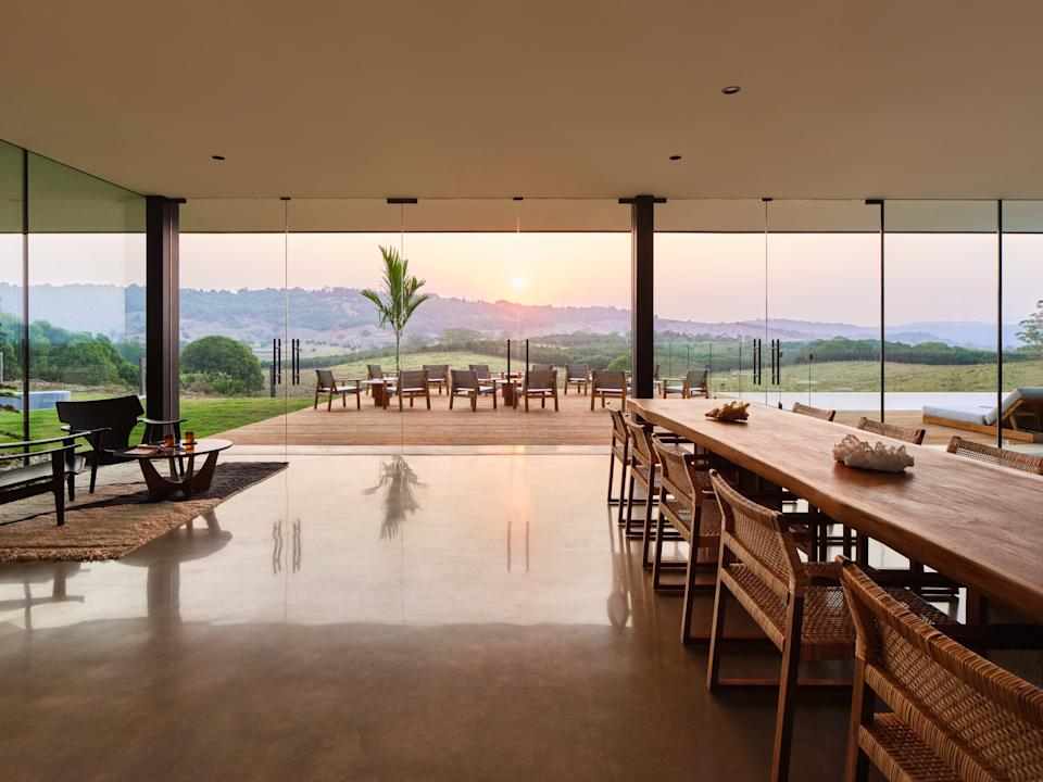 The dining room at Soma retreat