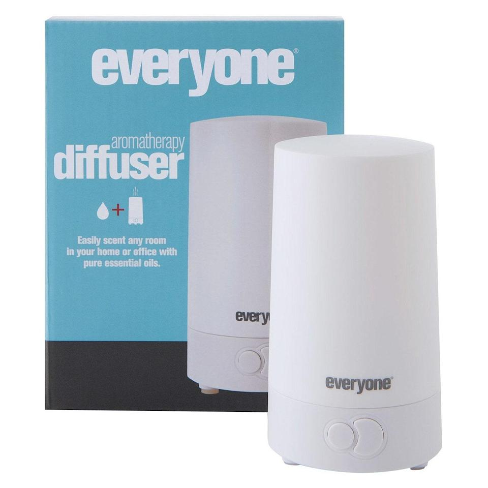 """<p>This oil diffuser is designed to be easy, powerful, and portable enough for anyone. It uses an internal fan to disperse scents all around your home and is lightweight and compact enough to move from room to room. Best of all, the multiple settings and nightlight functions can be controlled with two simple buttons. One <em>Allure</em> editor loves to keep it on her desk with a few drops of the <a href=""""https://www.amazon.com/Everyone-Essential-Relax-0-45-Ounce/dp/B00SONK5H8?th=1"""" rel=""""nofollow noopener"""" target=""""_blank"""" data-ylk=""""slk:Everyone Relax essential oil blend"""" class=""""link rapid-noclick-resp"""">Everyone Relax essential oil blend</a>, which is great on particularly stressful days.</p> <p><strong>$29</strong> (<a href=""""https://healthyplanetshopping.com/products/everyone-aromatherapy-diffuser-eo-1-diffuser"""" rel=""""nofollow noopener"""" target=""""_blank"""" data-ylk=""""slk:Shop Now"""" class=""""link rapid-noclick-resp"""">Shop Now</a>)</p>"""