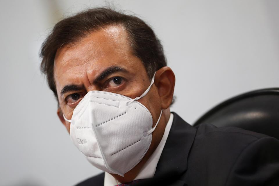Lawyer Marcos Tolentino da Silva looks on during a meeting of the Parliamentary Inquiry Committee (CPI) to investigate government actions and management during the coronavirus disease (COVID-19) pandemic, at the Federal Senate in Brasilia, Brazil, September 14, 2021. REUTERS/Adriano Machado