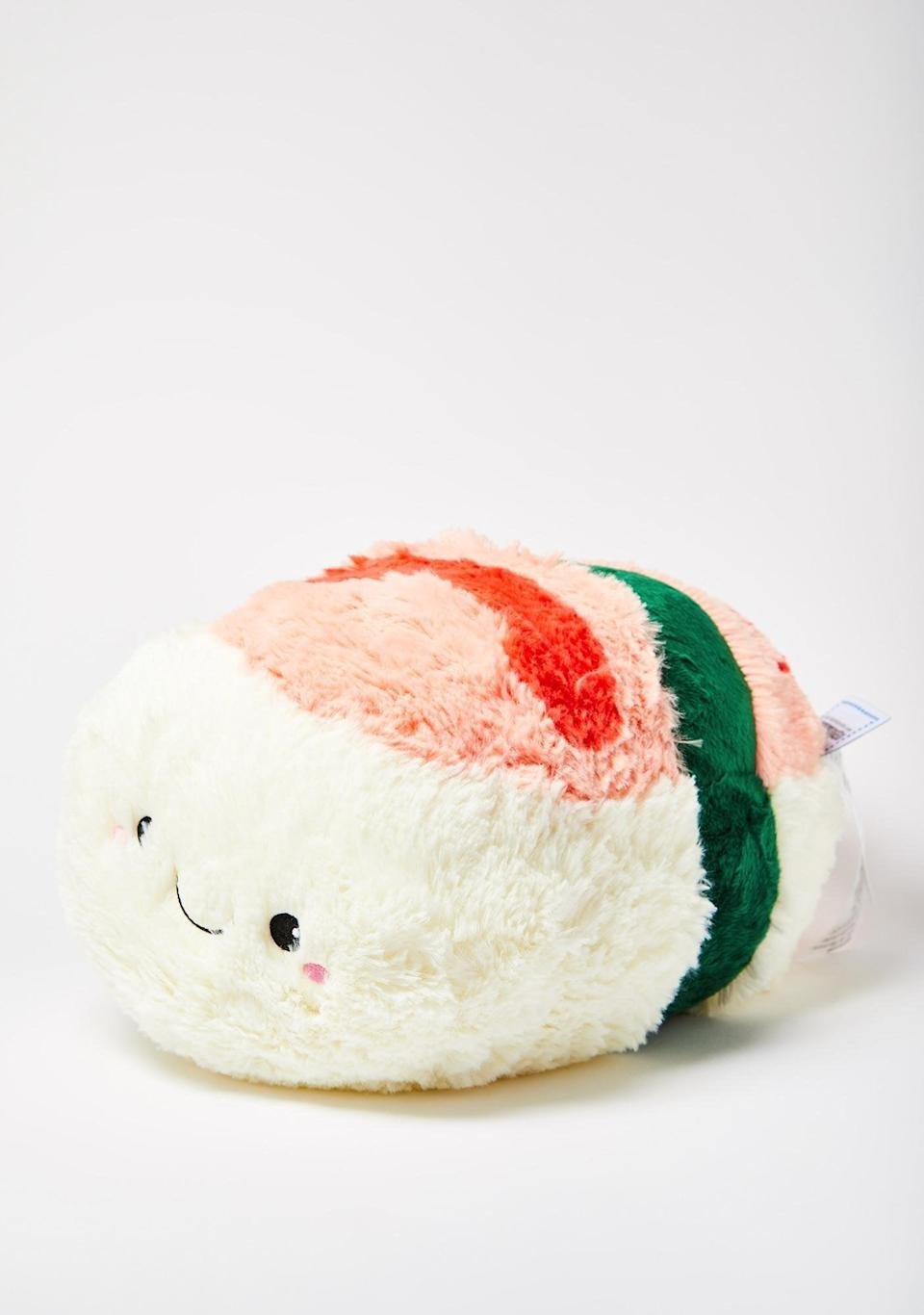 <p>This <span>Shrimp Sushi Plushie</span> ($29, originally $38) pairs well with takeout and a lazy night in.</p>