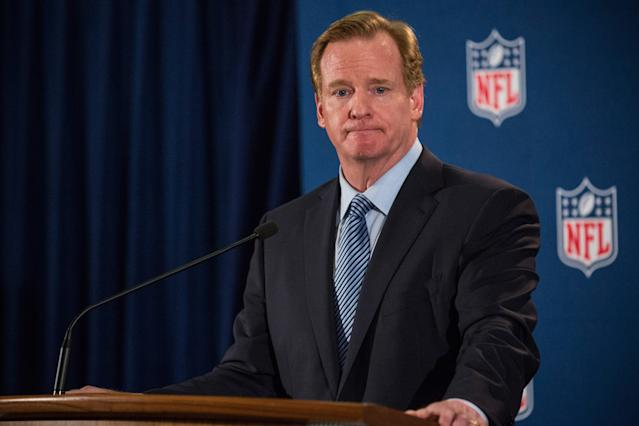NFL Commissioner Roger Goodell says the league is committed on domestic violence issues.