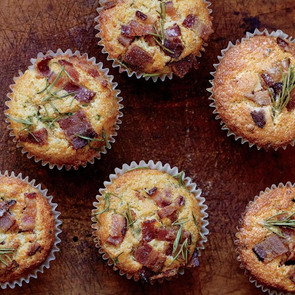 """Not into super-sweet muffins? This savory, smoky variation is just the thing. <a href=""""https://www.epicurious.com/recipes/food/views/bacon-cheddar-muffins-51256440?mbid=synd_yahoo_rss"""" rel=""""nofollow noopener"""" target=""""_blank"""" data-ylk=""""slk:See recipe."""" class=""""link rapid-noclick-resp"""">See recipe.</a>"""