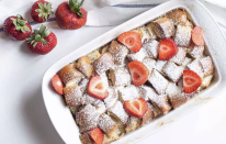 """<p>Whether you have day-old brioche bread or a fresh loaf, this bread pudding is decadent and so simple to make. The high butter content in the brioche takes a typical bread pudding into dessert territory, but no one will complain. You can <a href=""""https://www.thedailymeal.com/make-ahead-meals-you-can-freeze?referrer=yahoo&category=beauty_food&include_utm=1&utm_medium=referral&utm_source=yahoo&utm_campaign=feed"""" rel=""""nofollow noopener"""" target=""""_blank"""" data-ylk=""""slk:make a big pan ahead of time and store it in your freezer"""" class=""""link rapid-noclick-resp"""">make a big pan ahead of time and store it in your freezer</a> for a comforting breakfast, brunch or for whenever you like.</p> <p><a href=""""https://www.thedailymeal.com/best-recipes/brioche-bread-pudding-bourbon?referrer=yahoo&category=beauty_food&include_utm=1&utm_medium=referral&utm_source=yahoo&utm_campaign=feed"""" rel=""""nofollow noopener"""" target=""""_blank"""" data-ylk=""""slk:For the Brioche Bread Pudding recipe, click here."""" class=""""link rapid-noclick-resp"""">For the Brioche Bread Pudding recipe, click here.</a></p>"""