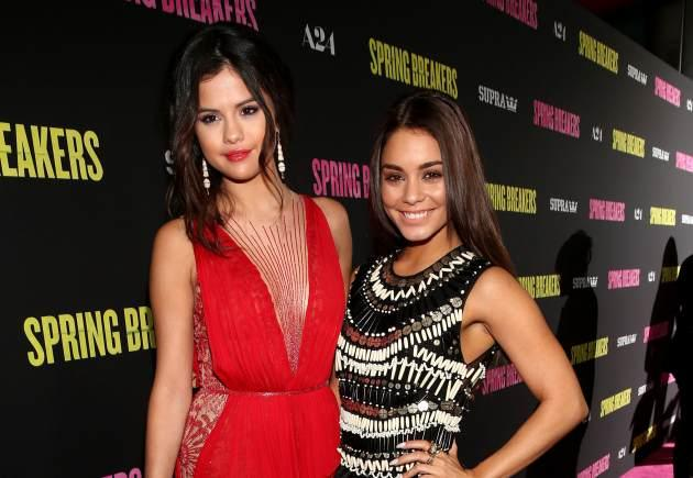 Selena Gomez and Vanessa Hudgens attend the 'Spring Breakers' premiere at ArcLight Cinemas on March 14, 2013 in Hollywood, Calif. -- Getty Images