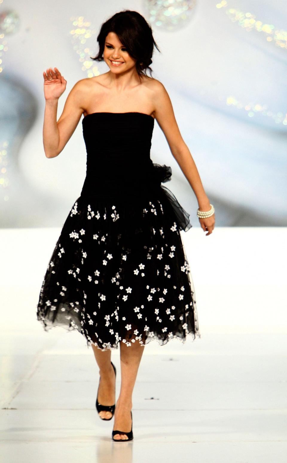 <p>She hit the catwalk for Runway For Life in LA.</p>