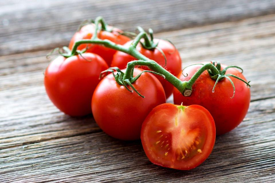"""<p>Tomatoes are our most common source of lycopene, an antioxidant that may protect against heart disease and breast cancer. The only problem with tomatoes is that we generally eat them in the form of sugar-loaded jarred pasta sauce or as a thin slice in a sandwich. For a healthier side dish, quarter plum tomatoes and coat with olive oil, garlic powder, salt, and pepper. Roast in a 400°F oven for 20 minutes, and serve with chicken. </p><p><strong>Try it: </strong><a href=""""https://www.prevention.com/food-nutrition/recipes/a20471878/sauteed-cherry-tomatoes-and-white-beans/"""" rel=""""nofollow noopener"""" target=""""_blank"""" data-ylk=""""slk:Sauteed Cherry Tomatoes and White Beans"""" class=""""link rapid-noclick-resp"""">Sauteed Cherry Tomatoes and White Beans</a></p>"""