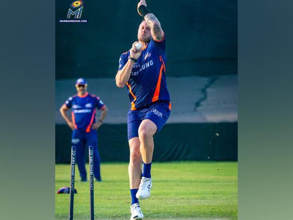 Mumbai Indians' pacer James Pattinson (Photo/ Mumbai Indians Twitter)