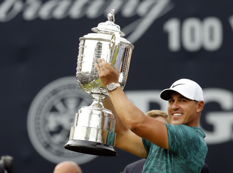 Brooks Koepka voted PGA Tour's top player of the year