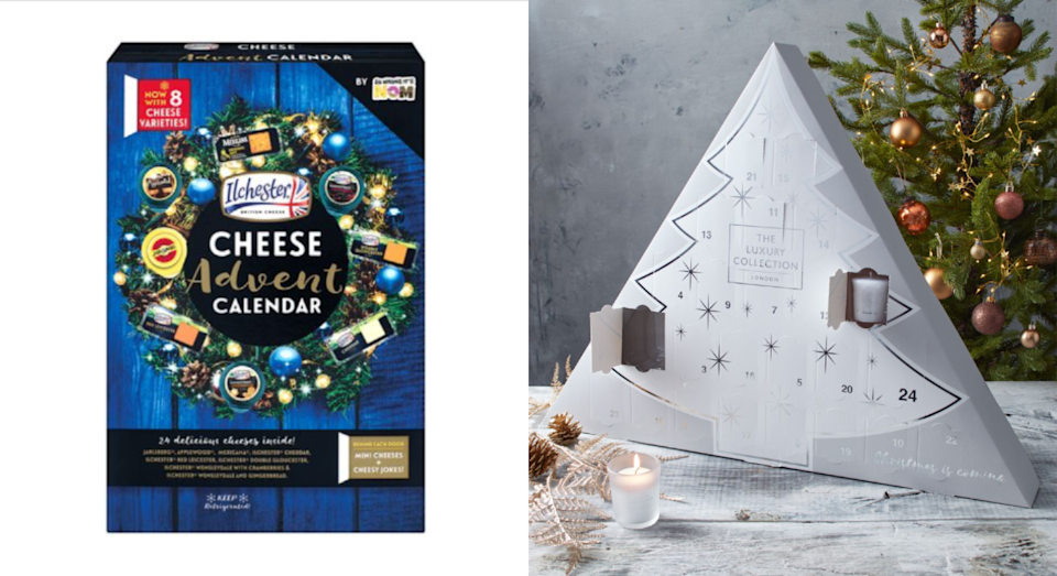 These luxury advent calendars are available from 7 November. [Photo: Lidl]