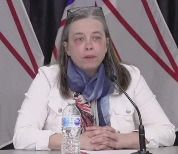 Newfoundland and Labrador's Chief Medical Officer of Health Dr. Janice Fitzgerald announces 50 new confirmed cases of COVID-19 in the province on Feb. 12.