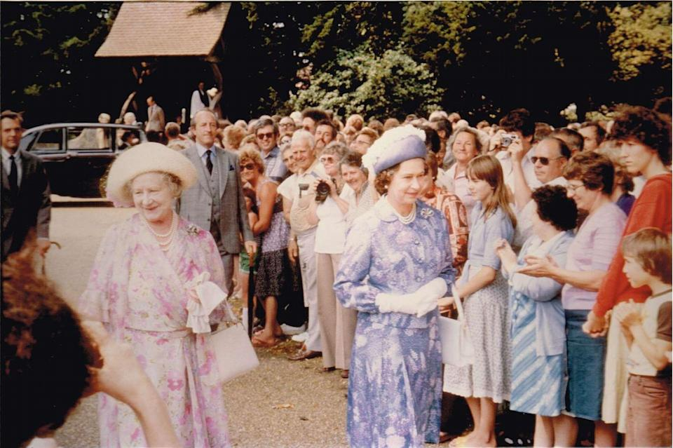 <p>Taken in 1980 outside Sandringham Church by John Cole.</p>