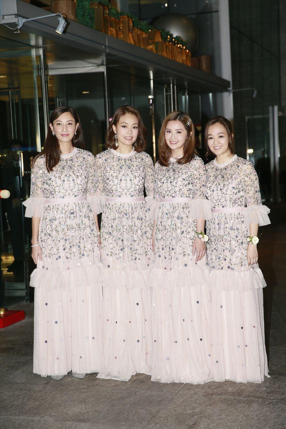 <p>Florals grew in popularity in 2018, which added a romantic flair to the big day. Dainty details, like seen on this bridal party in Hong Kong, were interesting, without distracting from the bride. </p>