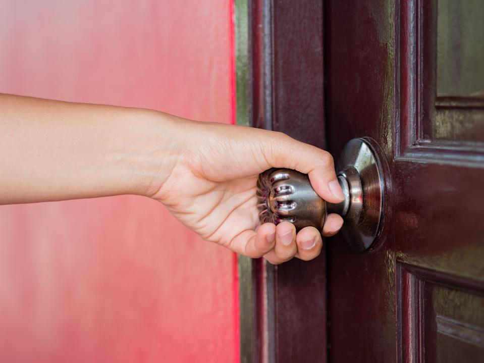 Don't touch your mouth, nose or eyes after touching a doorknob.