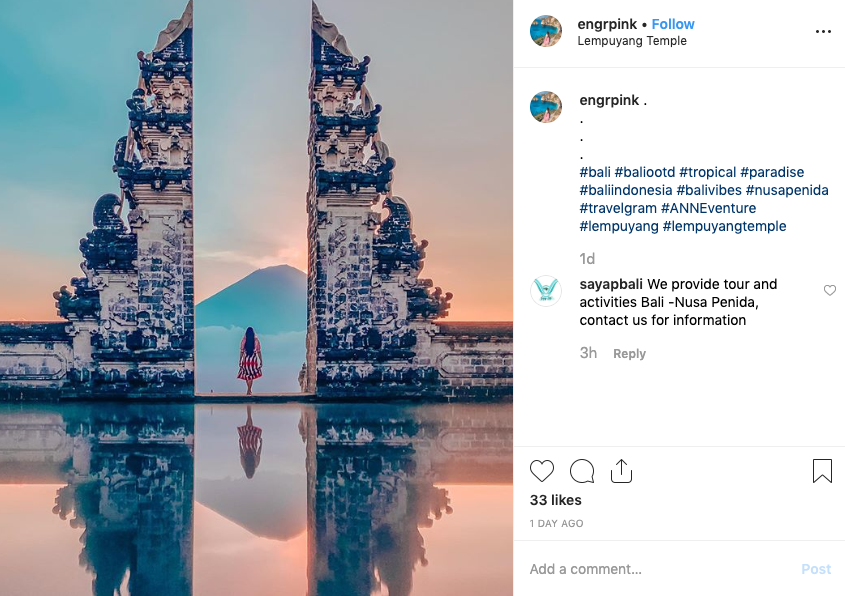 """The temple gate is known to the western world as """"The Gates of Heaven"""" and has featured in hundreds of Instagram posts in recent years. (Photo: Instagram)"""