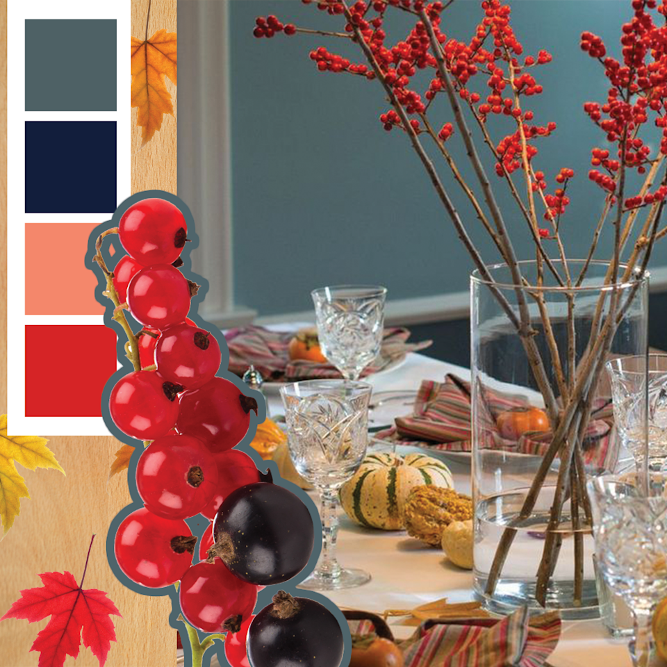 <p>Gooseberries will bring a pop of color to your Thanksgiving table, no matter how you style them. But paired with off-white, navy and the natural greens and oranges of fall veggies, it looks particularly festive.</p>