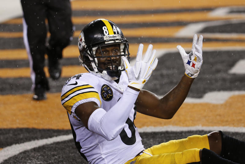 Pittsburgh Steelers wide receiver Antonio Brown has gotten himself into the MVP conversation. (AP)