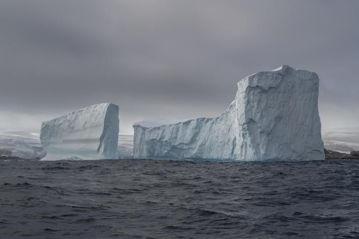 Icebergs outside the coast of Anvers Island in Antarctica. | Christian Åslund —Greenpeace and TIME