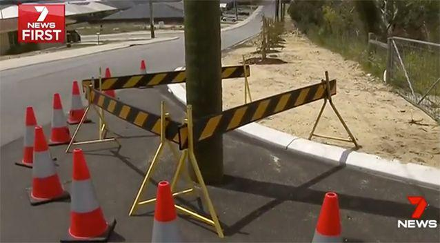Residents are furious the pole has been left like this. Source: 7 News