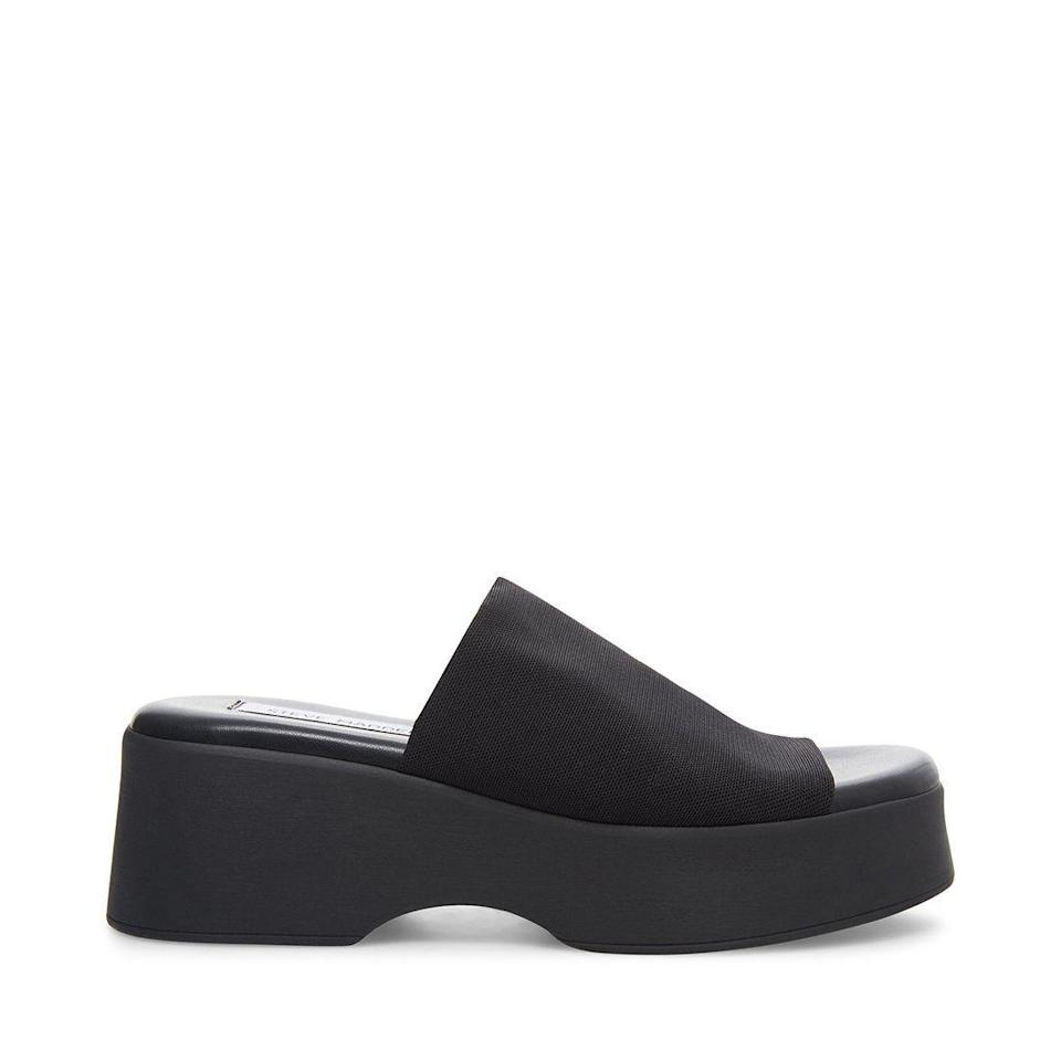 """<p><strong>SteveMadden</strong></p><p>stevemadden.com</p><p><strong>$92.95</strong></p><p><a href=""""https://go.redirectingat.com?id=74968X1596630&url=https%3A%2F%2Fwww.stevemadden.com%2Fproducts%2Fslinky30-black&sref=https%3A%2F%2Fwww.marieclaire.com%2Ffashion%2Fg32185174%2Fugly-shoes%2F"""" rel=""""nofollow noopener"""" target=""""_blank"""" data-ylk=""""slk:Shop Now"""" class=""""link rapid-noclick-resp"""">Shop Now</a></p><p>What is a '90s shoe roundup without Steve Madden? The Slinky (re-released as part of a 30th anniversary) was the quintessential bitchy high-schooler sandal. </p>"""