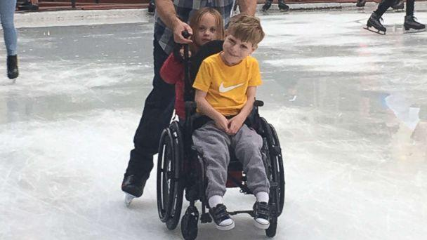 PHOTO: Jody Sumner pushes his son Charlie across the Beaver Creek Ice Rink in Beaver Creek, Colo. (Courtesy Jamie Sumner)