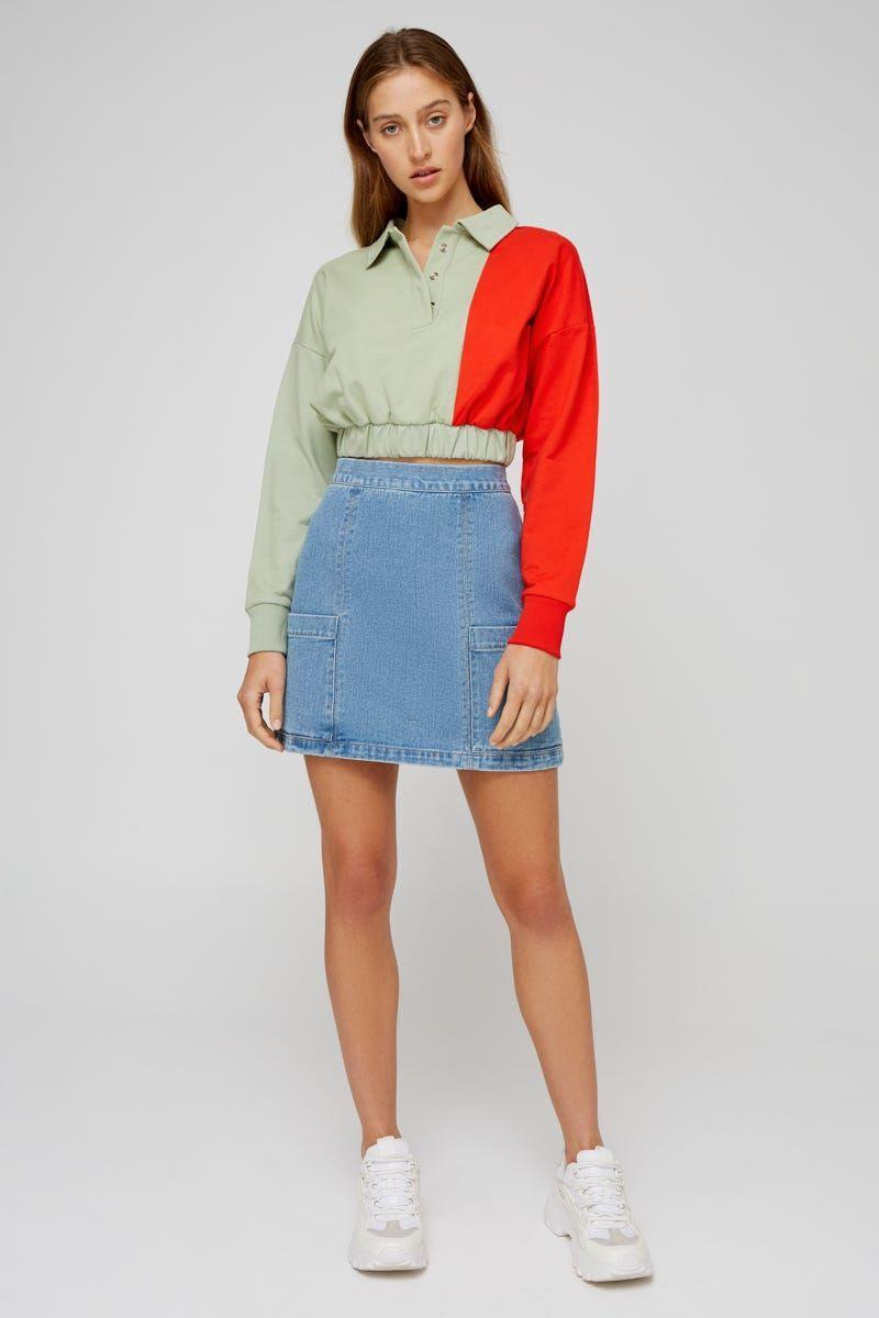 """<p><strong>The Fifth</strong></p><p>fashionbunker.com</p><p><strong>$45.92</strong></p><p><a href=""""https://us.fashionbunker.com/paradox-skirt-light-blue"""" rel=""""nofollow noopener"""" target=""""_blank"""" data-ylk=""""slk:Shop Now"""" class=""""link rapid-noclick-resp"""">Shop Now</a></p><p>If you didn't already know, Australia has been churning out some of the hottest fashion labels. <a href=""""https://us.fashionbunker.com/"""" rel=""""nofollow noopener"""" target=""""_blank"""" data-ylk=""""slk:Fashion Bunker"""" class=""""link rapid-noclick-resp"""">Fashion Bunker</a> houses brands such as C/Meo Collective, The Fifth, and Keepsake – all super cute and Insta-worthy. </p>"""