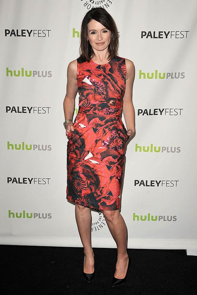"Emily Mortimer attends the 30th annual PaleyFest featuring the cast of ""The Newsroom"" at the Saban Theatre on March 3, 2013 in Beverly Hills, California."