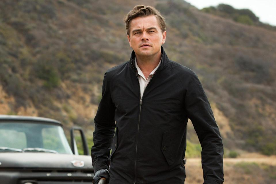 """<p>Excuse my language, but when talking about <a href=""""https://ew.com/creative-work/the-wolf-of-wall-street/"""" rel=""""nofollow noopener"""" target=""""_blank"""" data-ylk=""""slk:The Wolf of Wall Street"""" class=""""link rapid-noclick-resp""""><i>The Wolf of Wall Street</i></a>, once the record-holder for expletives in a film, DiCaprio can only be described a f---ing powerhouse in his portrayal of the sex and drug-fueled stockbroker Jordan Belfort. And while he's not usually known for making us laugh, Jordan and Donny's (<a href=""""https://ew.com/tag/jonah-hill/"""" rel=""""nofollow noopener"""" target=""""_blank"""" data-ylk=""""slk:Jonah Hill)"""" class=""""link rapid-noclick-resp"""">Jonah Hill)</a> lengthy quaalude trip is physical comedy at its finest. It's an iconic performance, further solidifying that he's <a href=""""https://www.youtube.com/watch?v=1YWXFiQWWfk"""" rel=""""nofollow noopener"""" target=""""_blank"""" data-ylk=""""slk:&quot;not f---ing leaving&quot;"""" class=""""link rapid-noclick-resp"""">""""not f---ing leaving""""</a> his spot as our greatest movie star.</p> <p><b>Related: </b><a href=""""https://ew.com/article/2014/01/12/leonardo-dicaprio-golden-globes-backstage/"""" rel=""""nofollow noopener"""" target=""""_blank"""" data-ylk=""""slk:Leonardo DiCaprio at Globes: 'Thank God' I didn't become Jordan Belfort"""" class=""""link rapid-noclick-resp"""">Leonardo DiCaprio at Globes: 'Thank God' I didn't become Jordan Belfort</a></p>"""