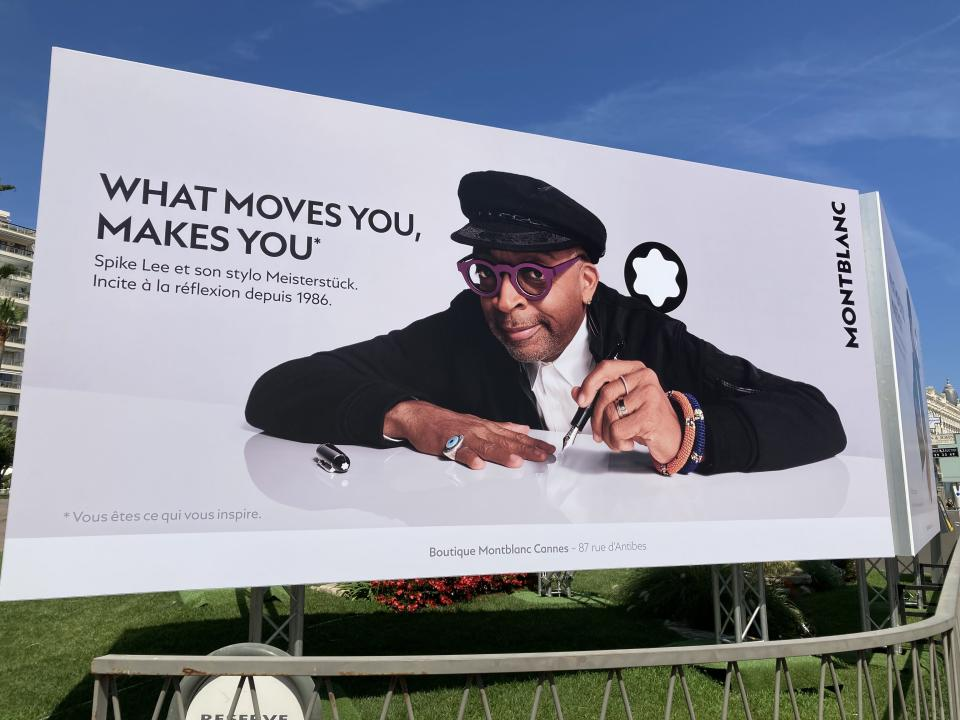 Spike Lee sells Montblanc at Cannes - Credit: Anne Thompson