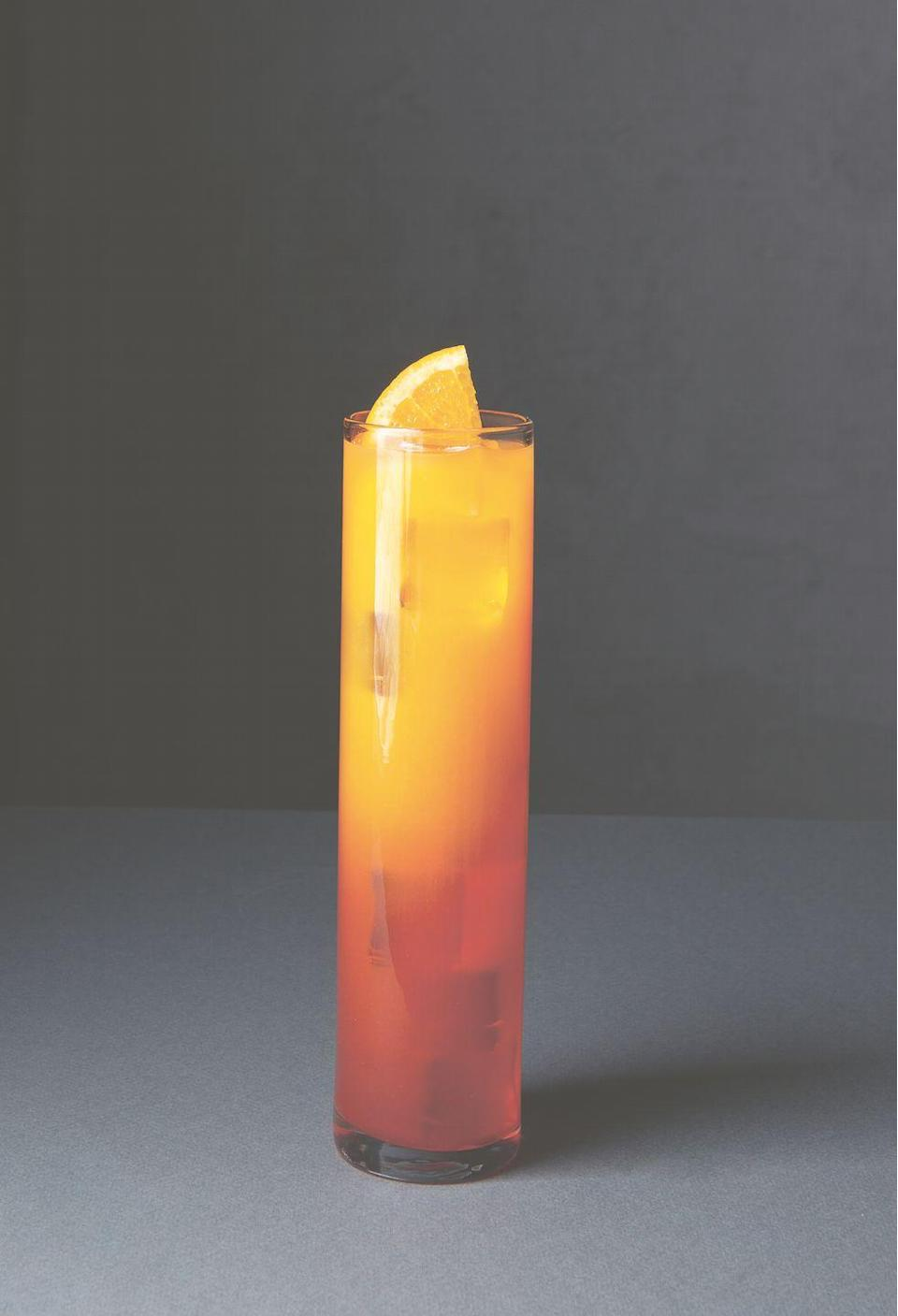 """<p>""""A staple of the 1970s, but likely created much earlier, the Tequila Sunrise was popularized by Mick Jagger after he was served one at the kick-off party for the Rolling Stones' U.S. tour,"""" writes Adrienne Stillman in <em><a href=""""https://www.amazon.com/Spirited-Cocktails-Recipes-Continents-Countries/dp/1838661611"""" rel=""""nofollow noopener"""" target=""""_blank"""" data-ylk=""""slk:Spirited: Cocktails From Around the World"""" class=""""link rapid-noclick-resp"""">Spirited: Cocktails From Around the World</a></em>. """"The Grenadine at the bottom makes the drink look like a sunrise."""" This classic tequila cocktail is thought to have been created in Sausalito, California, some time between the 1920s–1940s and has been a bar-menu staple ever since.</p><p><strong>Ingredients:</strong></p><p>1/2 ounce (15 ml) Grenadine<br>2 ounces (60 ml) tequila<br>3 ounces (90 ml) fresh orange juice<br>Orange half wheel, to garnish</p><p><strong>Directions:</strong></p><p>Add the Grenadine to a Collins or highball glass. Add ice, tequila, and orange juice. Stir gently to combine. Garnish with an orange half wheel.<br></p><p><em>Reprinted from <a href=""""https://urldefense.com/v3/__https://www.phaidon.com/store/food-cook/spirited-9781838661618/__;!!Ivohdkk!wgMkltU-PaHO4HwAVgN1ZFQIkGJX2DBDWVQcsLmV_D1J41V697waOxGzbEoMnsIgEg$"""" rel=""""nofollow noopener"""" target=""""_blank"""" data-ylk=""""slk:Spirited: Cocktails from Around the World"""" class=""""link rapid-noclick-resp"""">Spirited: Cocktails from Around the World</a> by Adrienne Stillman. © 2020 Phaidon Press</em><br></p>"""