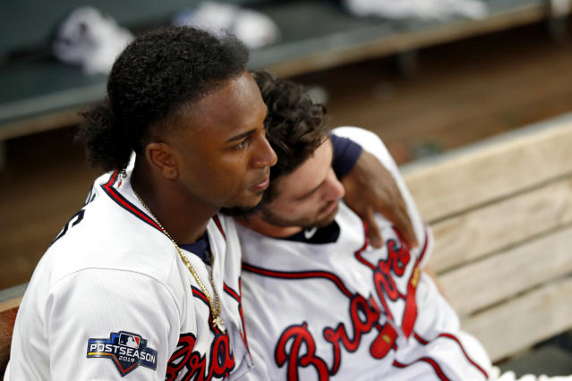 Ozzie Albies and Dansby Swanson know the end is near. (Getty)