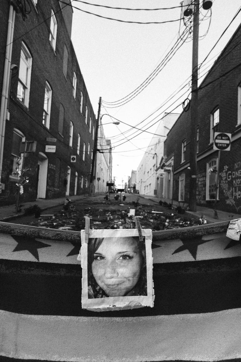 A photo of a memorial to Heather Heyer. (Eze Amos)