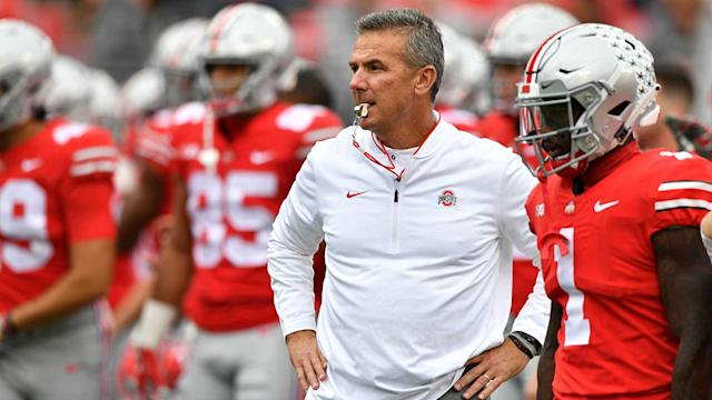 Urban Meyer and the Ohio State Buckeyes have some Big Ten tests ahead. (AP)