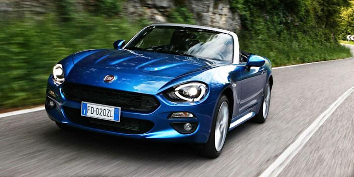 "<p><a href=""http://www.roadandtrack.com/new-cars/first-drives/news/a29486/fiat-124-qa-review/"" rel=""nofollow noopener"" target=""_blank"" data-ylk=""slk:The Fiat 124 Spider"" class=""link rapid-noclick-resp"">The Fiat 124 Spider</a>'s $24,995 starting price puts it about as close to our $25,000 cutoff as you can get, but hey, it still counts. And while it's heavier and <a href=""http://www.caranddriver.com/fiat/124-spider"" rel=""nofollow noopener"" target=""_blank"" data-ylk=""slk:not quite as quick as the Miata"" class=""link rapid-noclick-resp"">not quite as quick as the Miata</a> it's based on, that added weight goes towards making the 124 Spider more comfortable and refined. The 124 is more of a cruiser, but one that's still respectably quick.</p>"