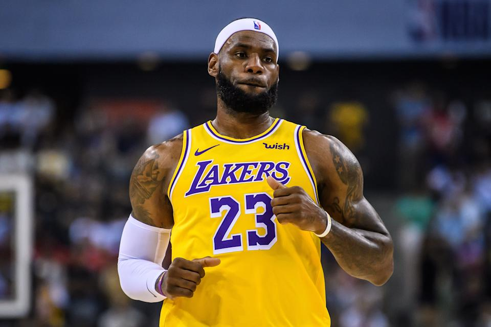 LeBron James reportedly confronted Adam Silver over the China issue during a meeting among the Nets and Lakers. (Getty)