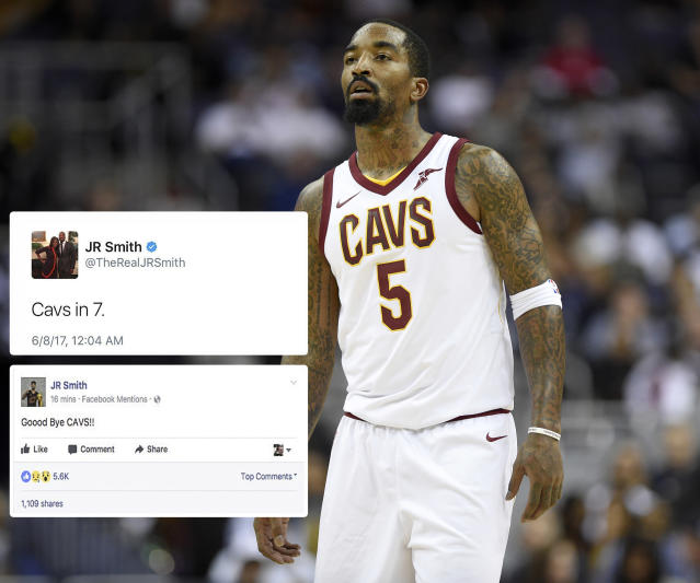 "<p>The lovable Cavalier found himself reaching for the ""I was hacked"" excuse twice in 2017. The first instance came after Cleveland lost Game 3 of the NBA Finals to the Golden State Warriors. Smith's tweet, which called for the Cavs to win in 7, was deleted quickly. The second instance came in the summer, when Smith posted a message saying ""Good bye Cavs"" on Facebook. Many were under the assumption that Smith had been traded, but alas, those darn hackers got him again. Click <a href=""https://ca.sports.yahoo.com/news/social-media-apos-hacking-apos-013546162.html"" data-ylk=""slk:here;outcm:mb_qualified_link;_E:mb_qualified_link"" class=""link rapid-noclick-resp newsroom-embed-article"">here</a> to read more. </p>"