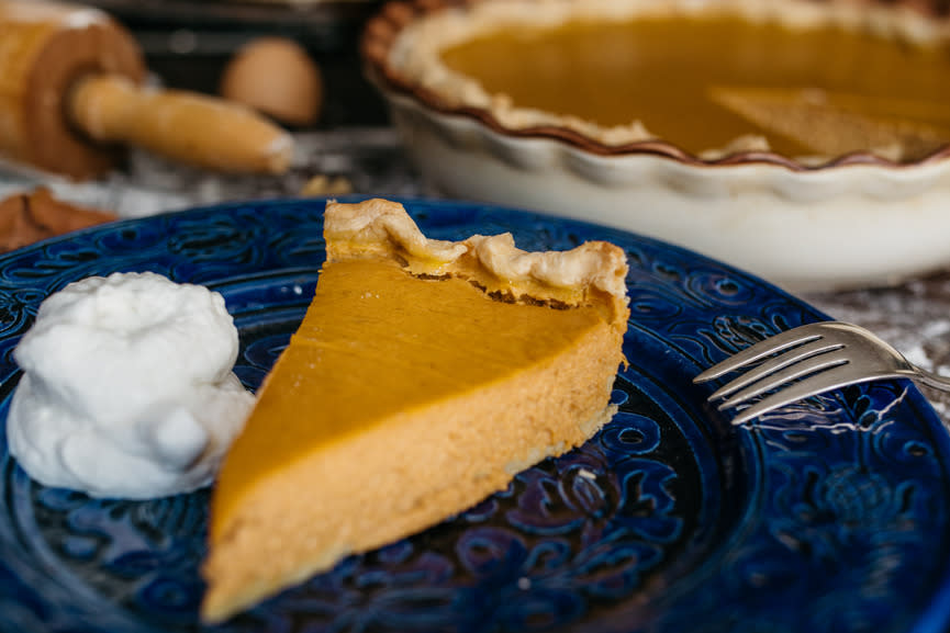 """<p>What's the point of indulging on Thanksgiving if you're going to feel bad about it the next day? """"Contrary to public opinion, taking yourself on a long guilt trip does not burn calories,""""<a href=""""http://shirard.com"""">registered dietitian Shira Lenchewski</a>tells us. """"While I'm a huge fan of Turkey Day physical activity, this dialogue frames the meal like a calorie free-for-all, often leaving people feeling uncomfortably full and guilty. Instead, I'm all about allowing yourself to enjoy your favorite seasonal foods sensibly, without the guilty aftertaste. My dessert advice: Enjoy it. Like, really enjoy it. If you're itching for some pie, plate a sensible sliver and make it count. (No need for sneaky bites out of the box.)""""</p><p><i>(Photo: Stocksy)</i></p>"""