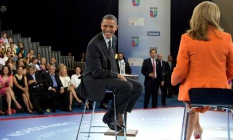 President Obama participates in a town hall at the University of Miami on Sept. 20: In Tuesday's presidential debate, candidates will answer questions from the audience.