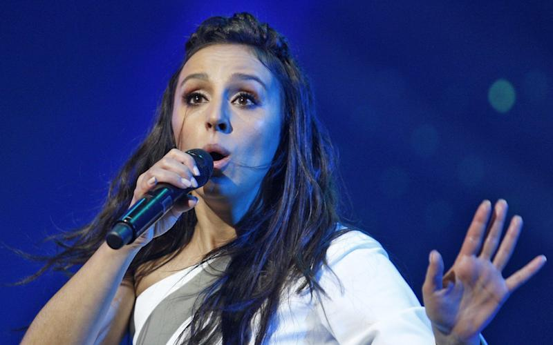 Winner of the 61st annual Eurovision Song Contest,Ukrainian singer Jamala - Credit: Pacific Press