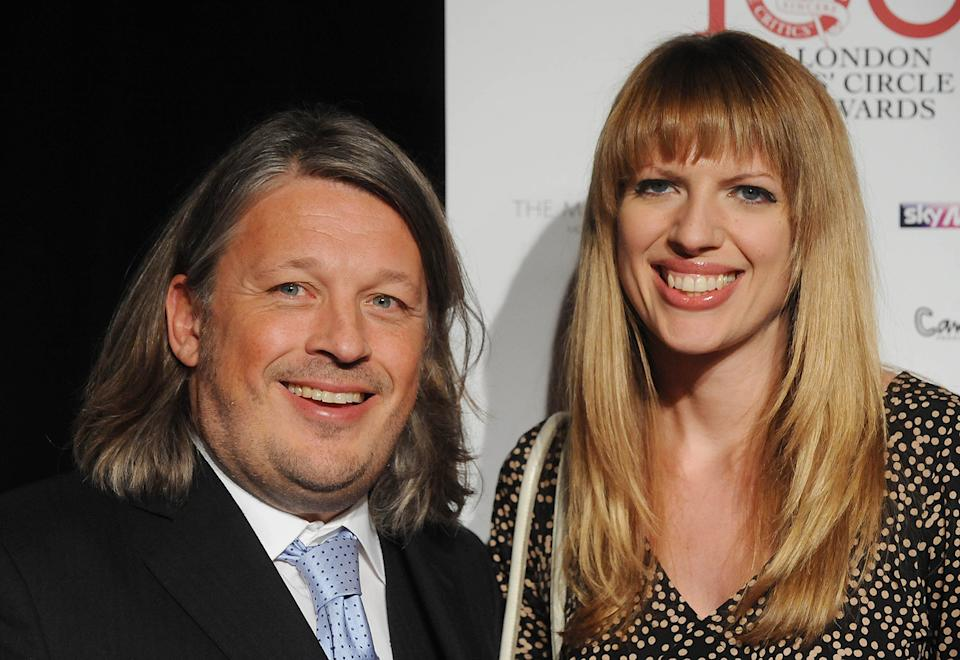 Catie, seen here with husband Richard Herring, is no longer actively pursuing stand-up comedy gigs (Image: Getty Images)