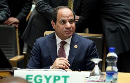 Egypt's President al-Sisi attends the opening ceremony of the Assembly of the African Union (AU) at the AU headquarters in Ethiopia's capital Addis Ababa