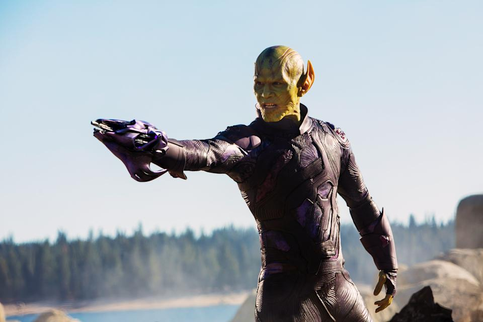 Talos (Ben Mendeloshn) reappears at the end of 'Far From Home' (Photo: Walt Disney Studios Motion Pictures / © Marvel / courtesy Everett Collection)