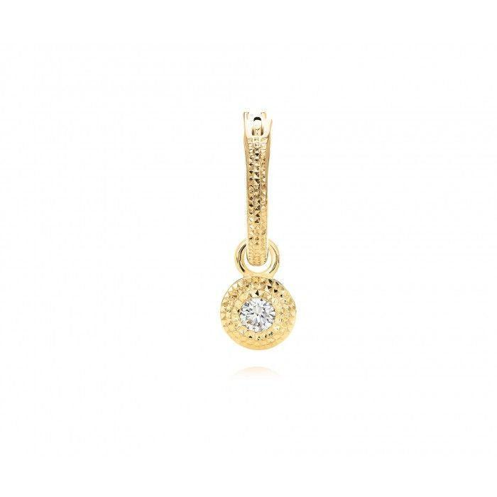 """<p><a class=""""link rapid-noclick-resp"""" href=""""https://www.debeers.co.uk/talisman-yellow-gold-white-diamond-earring-z2tt34z00y04"""" rel=""""nofollow noopener"""" target=""""_blank"""" data-ylk=""""slk:SHOP"""">SHOP</a></p><p>One earring is all you need to make a statement and this diamond talisman from luxury jeweller De Beers does just that.</p><p>£1,425, De Beers</p>"""