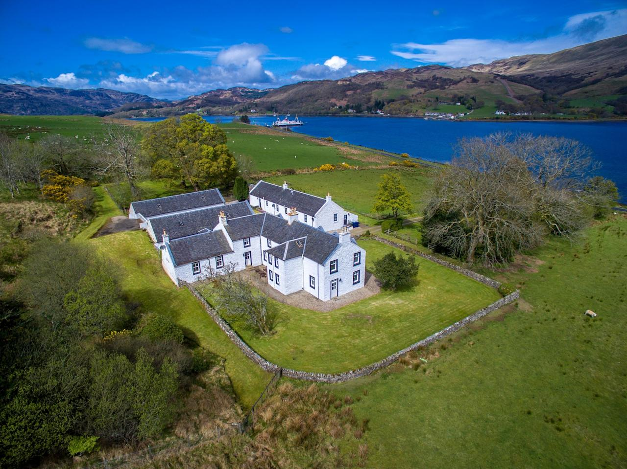 <p>Rhubodach on the north-east coast of Bute, was bought by much-loved actor and film-maker, Lord Richard Attenborough and his wife, Sheila, in the 1980s to be used as a restful bolthole away from their busy working lives. (Savills/SWNS) </p>