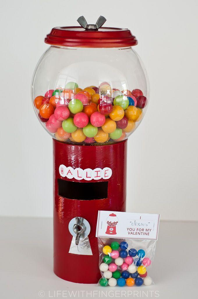 """<p>This super-creative box is so much fun to create and decorate. The tutorial calls for recycled materials and inexpensive craft supplies. Don't forget the gumballs! </p><p><strong>Get the tutorial at</strong> <a href=""""https://www.lifewithfingerprints.com/2014/02/valentines-day-gumball-machine.html/"""" rel=""""nofollow noopener"""" target=""""_blank"""" data-ylk=""""slk:Life With Fingerprints."""" class=""""link rapid-noclick-resp""""><strong>Life With Fingerprints.</strong></a></p><p><a class=""""link rapid-noclick-resp"""" href=""""https://www.amazon.com/s?k=red+spray+paint&tag=syn-yahoo-20&ascsubtag=%5Bartid%7C2164.g.35119968%5Bsrc%7Cyahoo-us"""" rel=""""nofollow noopener"""" target=""""_blank"""" data-ylk=""""slk:SHOP RED SPRAY PAINT"""">SHOP RED SPRAY PAINT</a></p>"""