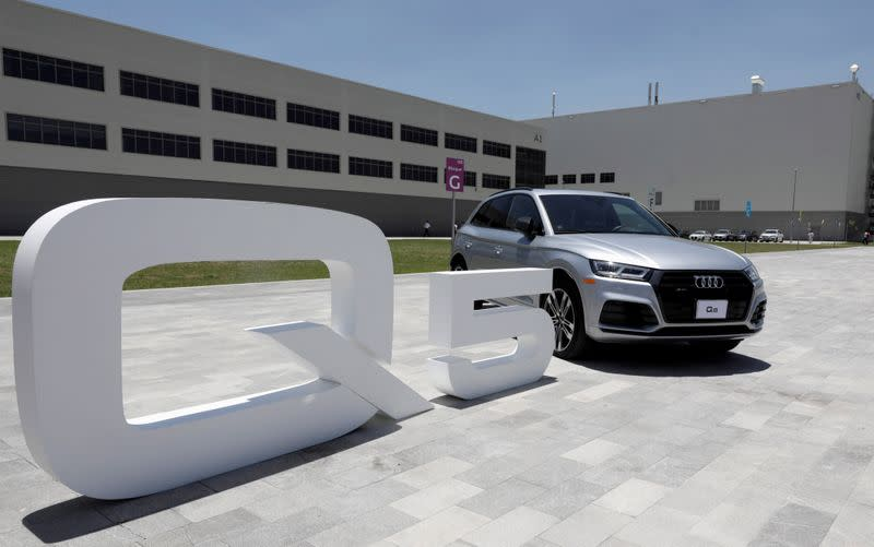 FILE PHOTO: An Audi Q5 2.0 is seen at the German car manufacturer's plant during a media tour in San Jose Chiapa